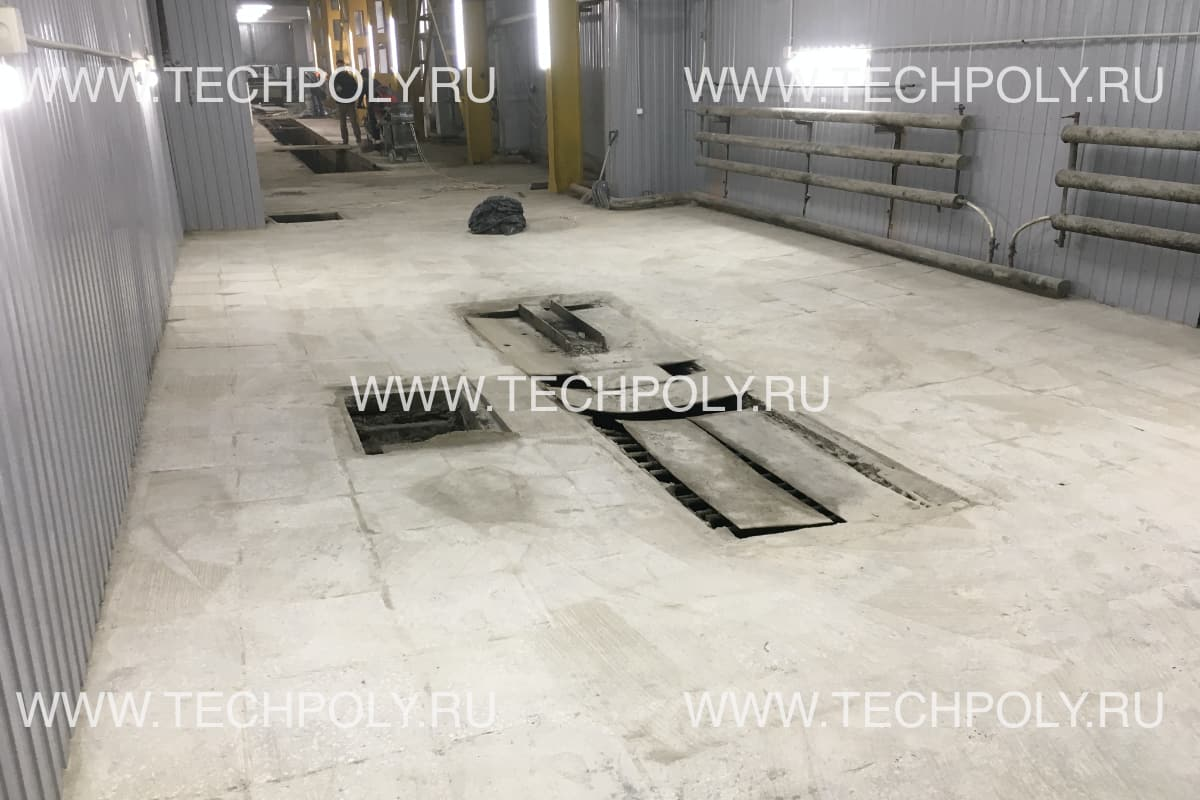 Шлифовка бетонной плитки